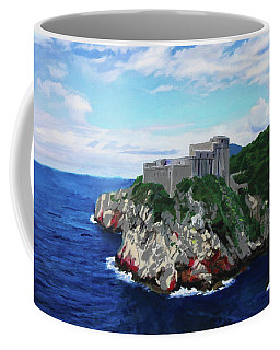 Coffee Mug featuring the painting Fort St Lawrence Game Of Thrones by Deborah Boyd