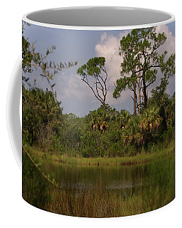 Scenic View Of Trees And A Pond Coffee Mug