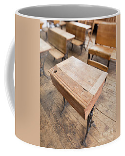 School Desks In A One Room School Building Coffee Mug