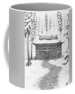 School In The Snow Coffee Mug
