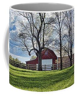 Coffee Mug featuring the photograph Schooler Road Barn by Cricket Hackmann
