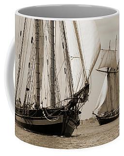 Schooner Pride Of Baltimore And Lynx Coffee Mug