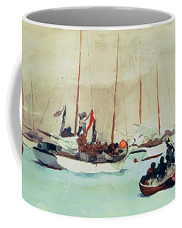 Schooners At Anchor In Key West Coffee Mug