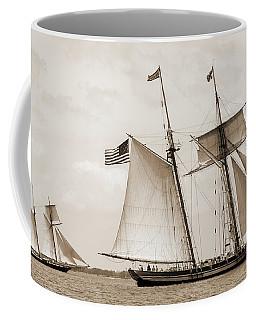 Schooners Pride Of Baltimore And Lynx Coffee Mug