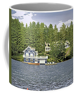 Coffee Mug featuring the painting Schultz Summer Home Muskoka by Kenneth M Kirsch