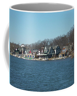 Coffee Mug featuring the photograph Schuylkill River - Boathouse Row In Philadelphia by Bill Cannon