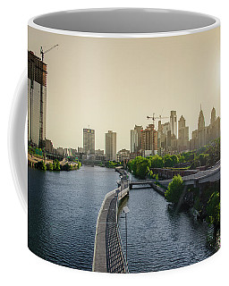 Coffee Mug featuring the photograph Schuylkill River Walk At Sunrise by Bill Cannon