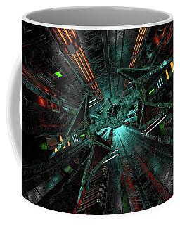 Sci Fi Tie Fighter Runway Coffee Mug