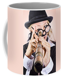 Scientist Searching For A Cure With Telecope Coffee Mug