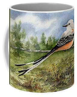 Coffee Mug featuring the painting Scissor-tail Flycatcher by Sam Sidders