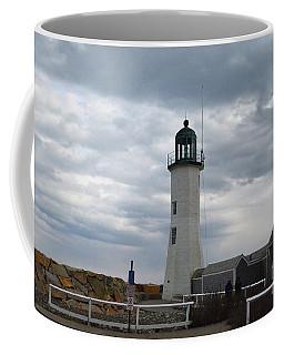 Scituate Light On An Overcast Day Coffee Mug by DejaVu Designs