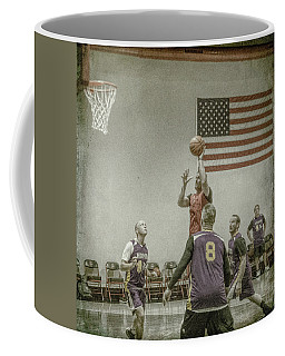 Coffee Mug featuring the photograph Scoring In The Lane by Ronald Santini