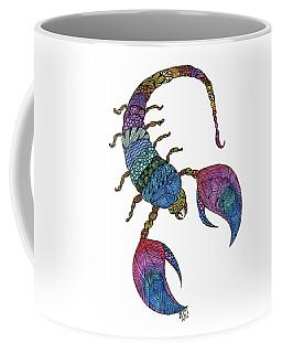 Coffee Mug featuring the drawing Scorpio by Barbara McConoughey