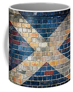 Scotland Flag On A Brick Wall Coffee Mug