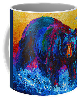 Scouting For Fish - Black Bear Coffee Mug