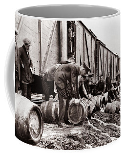 Scranton Police Dumping Beer During Prohibition  Scranton Pa 1920 To 1933 Coffee Mug