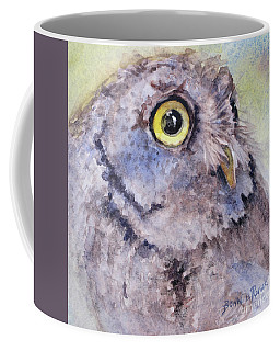 Coffee Mug featuring the painting Screech Owl by Bonnie Rinier