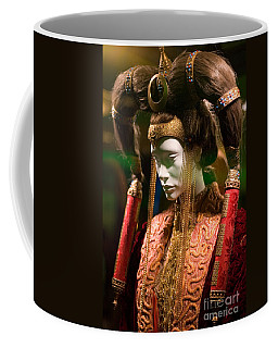 Screen Worn Queen Amidala Coffee Mug by Micah May