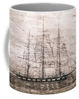 Scrimshaw Whale Panbone Coffee Mug