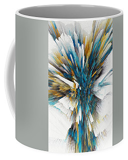Coffee Mug featuring the painting Sculptural Series Digital Painting 08.072311ex490l by Kris Haas