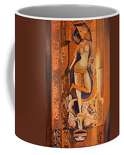 Sculpture On Temple Wall Coffee Mug by Geeta Biswas