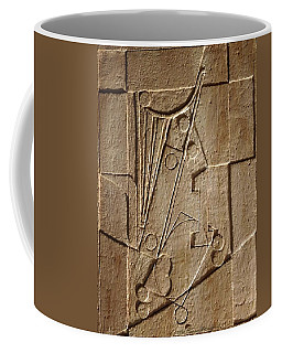 Sculptured Panel - Influenced By Picasso's Painting Having The Number 1 Coffee Mug