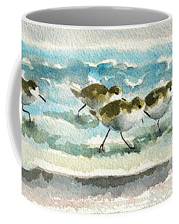 Scurrying Along The Shoreline 2  1-6-16 Coffee Mug
