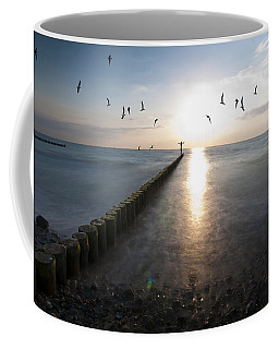 Sea Birds Sunset. Coffee Mug by Nathan Wright