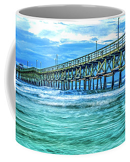 Sea Blue Cherry Grove Pier Coffee Mug