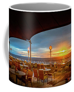 Coffee Mug featuring the photograph Sea Cruise Sunrise by John Poon