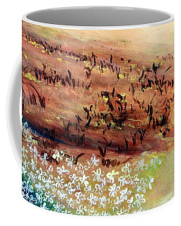 Coffee Mug featuring the painting Sea Earth  by Winsome Gunning