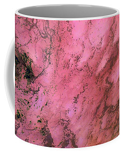 Sea Foam In Pink Coffee Mug