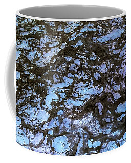 Sea Foam Black And Blue Coffee Mug
