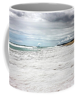 Coffee Mug featuring the photograph Sea Foam And Clouds By Kaye Menner by Kaye Menner
