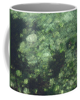 Sea Green Abstract Coffee Mug
