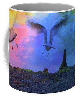 Sea Gull Abstract Coffee Mug