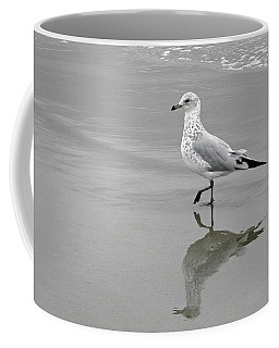 Sea Gull Walking In Surf Coffee Mug