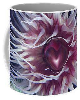 Coffee Mug featuring the digital art Sea Heart by Linda Sannuti