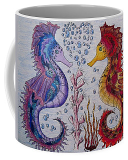 Sea Horses In Love Coffee Mug by Megan Walsh