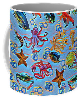 Sea Life Abstract Coffee Mug
