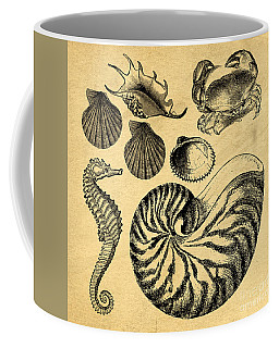 Coffee Mug featuring the drawing Sea Life Vintage Illustrations by Edward Fielding