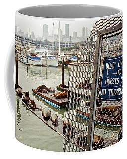 Sea Lions Take Over, San Francisco Coffee Mug