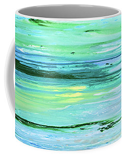 Sea Meets Land Panoramic Painting Coffee Mug