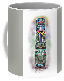 Sea Monster Pole Coffee Mug