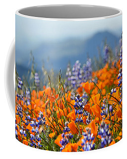 Sea Of California Wildflowers Coffee Mug