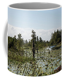 Coffee Mug featuring the photograph Sea Of Lily Pads by Sally Sperry