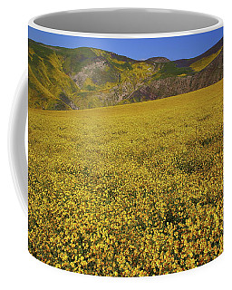 Sea Of Yellow Up In The Temblor Range At Carrizo Plain National Monument Coffee Mug