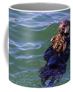 Sea Otter With Lunch Coffee Mug