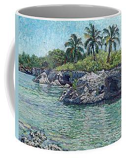 Sea, Rocks And Coconuts Coffee Mug