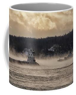 Sea Smoke At Rockland Breakwater Light Coffee Mug